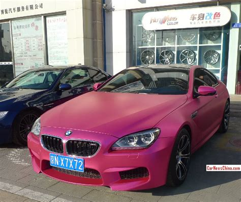 matte black and pink bmw matte pink bmw m6 coupe spotted in china autoevolution