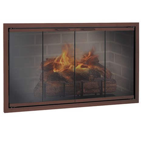 glass enclosed fireplace stiletto zero clearance aluminum glass enclosures