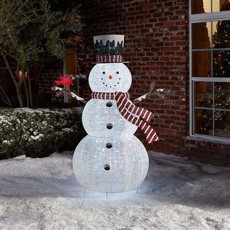 outdoor lighted decoration outdoor decoration pop up snowman yard