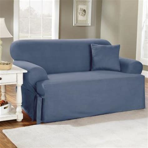 walmart sofa slipcovers sure fit cotton duck t cushion sofa slipcover walmart