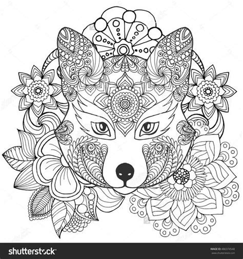 fox mandala coloring page mandala coloring pages fox mandala best free coloring pages