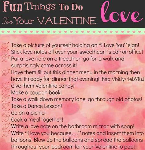 things to do on valentines day 30 and creative things to do with your tip