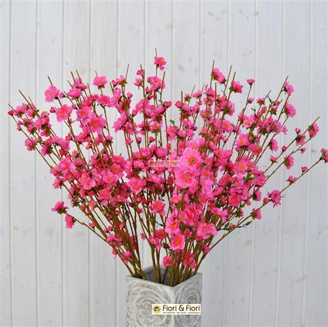 fiori di pesco fiore di pesco fucsia artificiale in tessuto lavabile