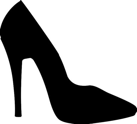 free vector graphic shoe stiletto high heels black