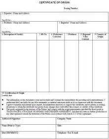 certificate of origin template cyberuse