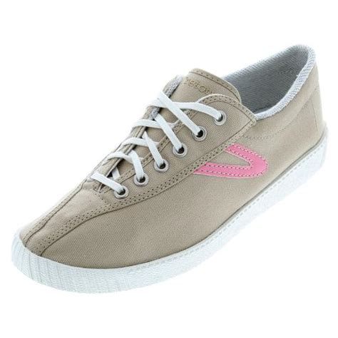 tennis express tretorn s nylite canvas khaki pink shoes