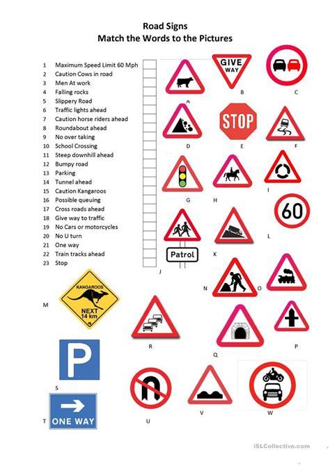 printable uk road signs flash cards road signs worksheet free esl printable worksheets made