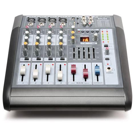 table de mixage lifier stl6a 6 channel mixer with lifier sd usb mp3 dsp tronios