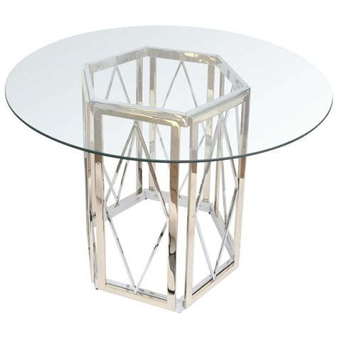 polished nickel table l polished nickel dining table at 1stdibs