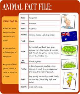 Fact File Template Ks2 by Animal Fact File Learnenglish Council