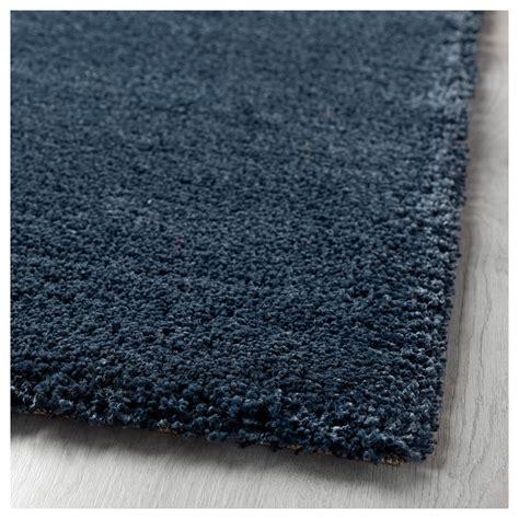 adum rug 197 dum rug high pile blue 133x195 cm ikea