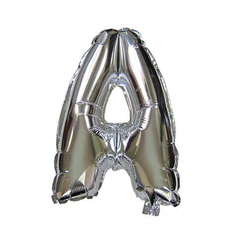 Silver Foil Balloon U 40 silver letter helium foil balloon globos numeros foil folienballon zahl