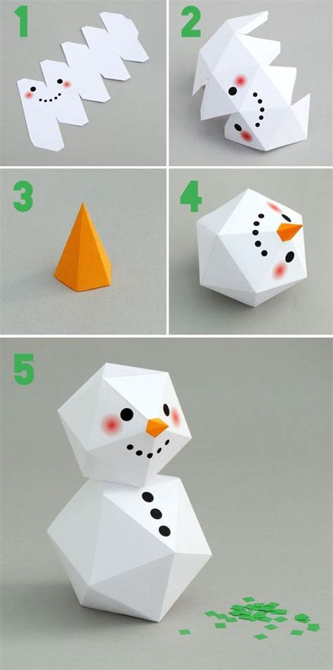 printable snowman ornaments geometric snowman winter craft for kids and kids fun