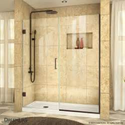 dreamline shower doors reviews shop dreamline unidoor plus 56 in to 56 5 in w frameless