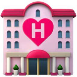 love hotel emoji (u+1f3e9)
