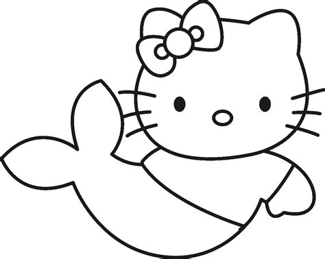 preschool mermaid coloring page pics to print print hello kitty little mermaid coloring