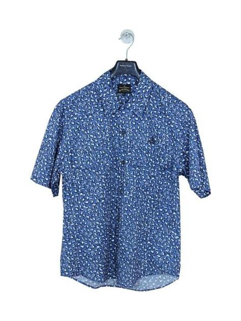 A Pretty Slinky Vivienne Westwood Dress To Bowl Him by Vivienne Westwood Anglomania Bowling Shirt In Blue
