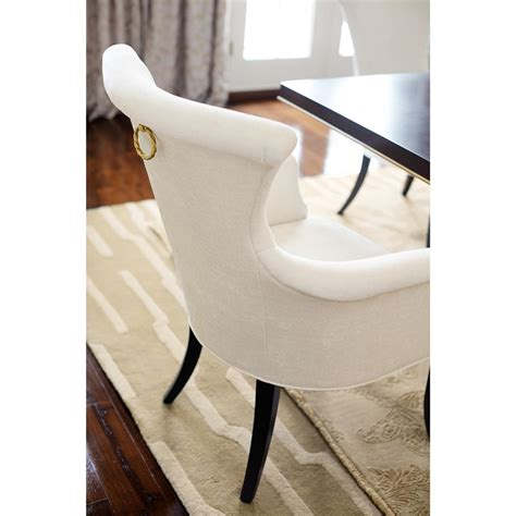 Ring Pull Dining Chair Modern Classic Ring Pull Ivory Armchair Pair Kathy On Classical Dining Chairs