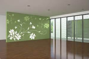 Living Room Wall Paint Stencils Fabulously Stunning Flower Wall Stencil Ideas For Painting