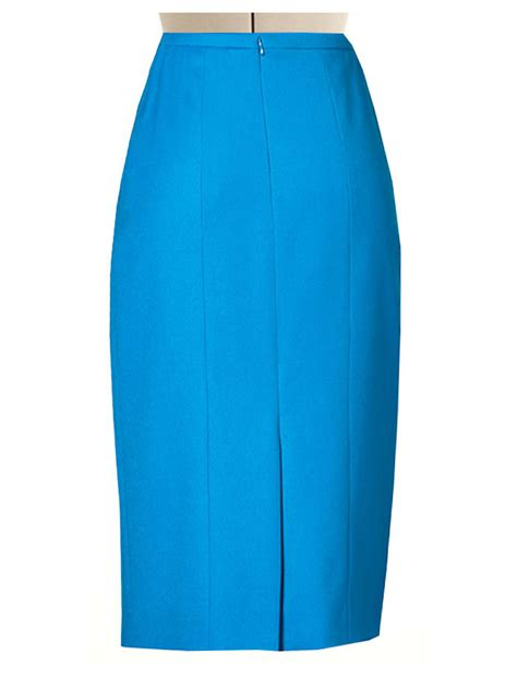 blue pencil skirt redskirtz
