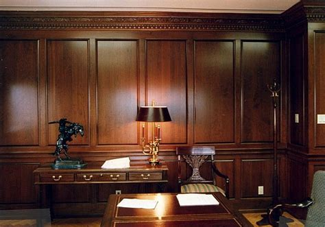 Office Wainscoting Ideas by Wood Paneled Office Home Office Den Ideas