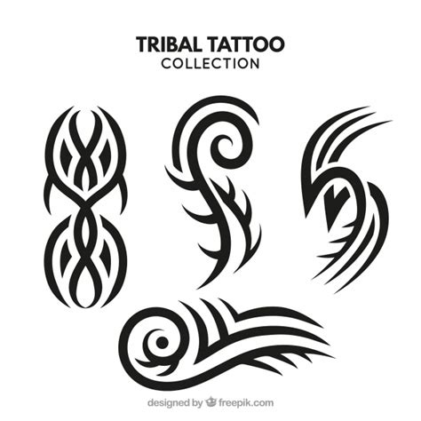 tattoo 3d vector small tribal tattoo collection vector free download