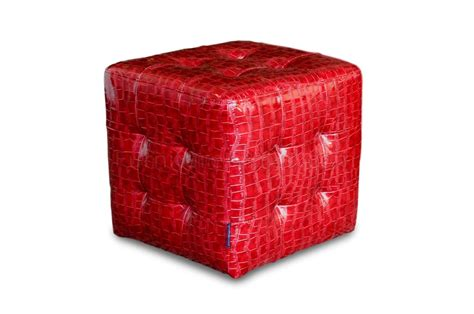 red cube ottoman red crocodile pattern vinyl modern tufted cube accent ottoman