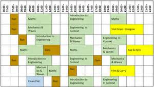 Blank Revision Timetable Template by Blank Revision Timetable