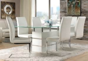 White Dining Room white leather dining room chairs decor ideasdecor ideas