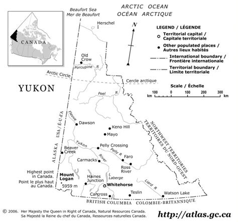 printable map of yukon yukon outline map