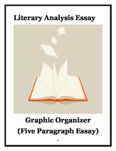 Literary Analysis Essay Graphic Organizer by Literary Analysis Essay Graphic Organizer By Mrsmooney Tpt