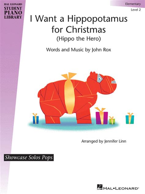sheet music i want a hippopotamus for christmas choral 2