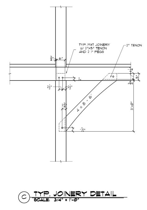 Timber Frame Knee Brace Joinery | Timber frame building