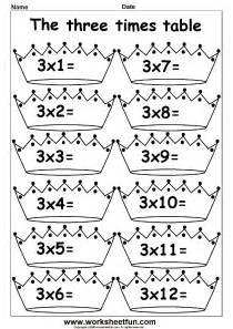 multiplication times tables worksheets 2 3 4 6 7 8