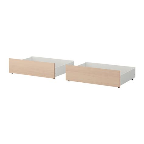 Box Bed Frame Ikea Malm Bed Storage Box For High Bed Frame White Stained Oak Veneer King Ikea