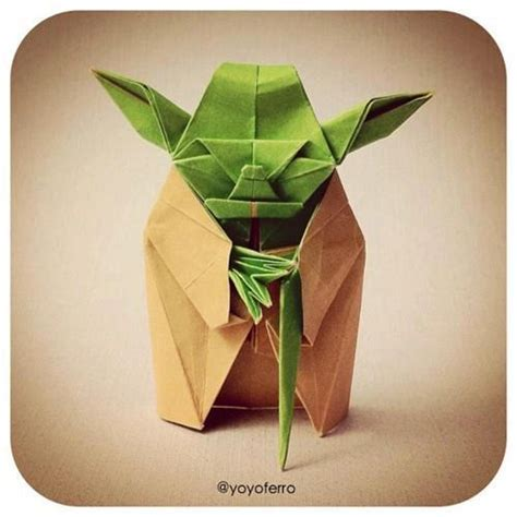 Origami Master Yoda - yoda the worleygig