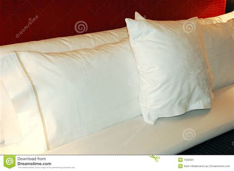 comfortable bed pillows bed pillows stock image image 1302631