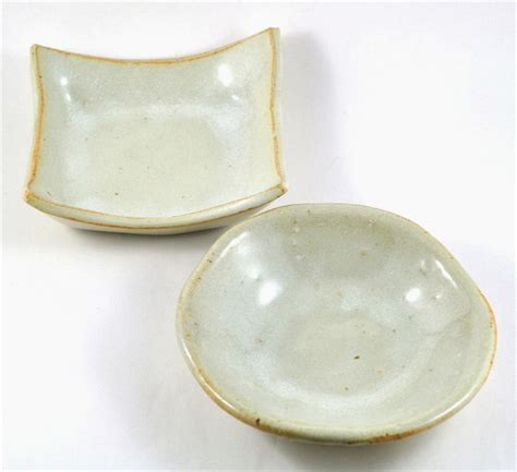 Handmade Ceramic Dishes - ceramic bowls set of two square handmade pottery