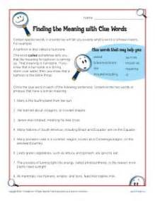 find the meaning with clue words context clues