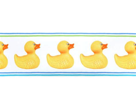 rubber st border rubber ducks pre pasted wall border