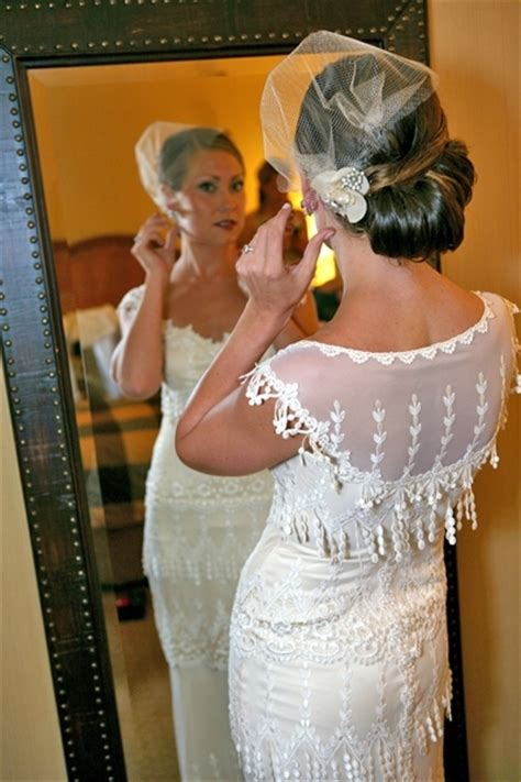 Vintage Wedding Hairstyles With Birdcage Veil by Vintage Sleek Updo Onewed