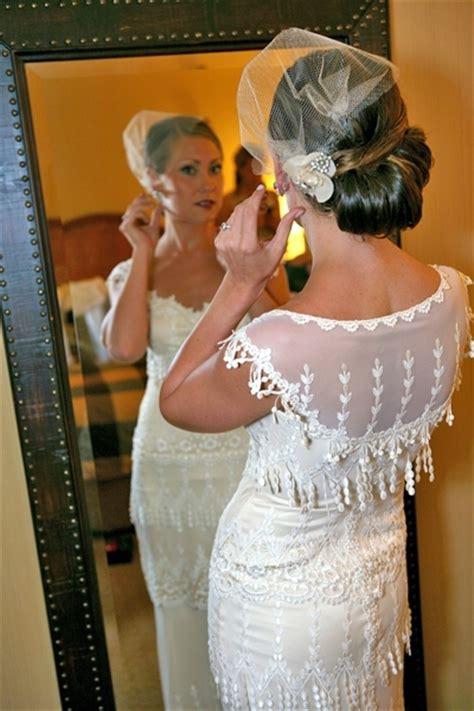 vintage wedding hairstyles with birdcage veil vintage sleek updo onewed