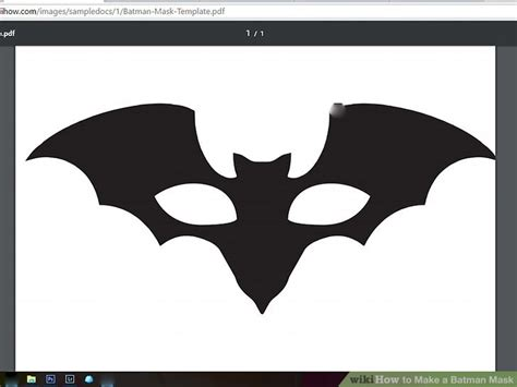 How To Make Batman Mask Out Of Paper - 4 ways to make a batman mask wikihow
