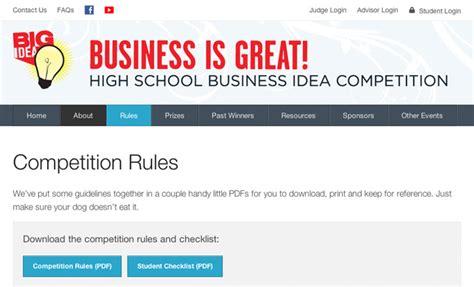 website design contest rules website design development big idea competition