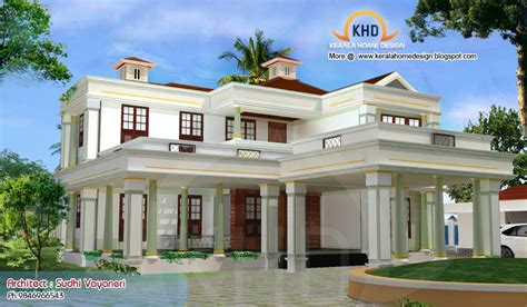 Southern Style House Plans With Porches by Home Plan And Elevation 3317 Sq Ft Kerala Home Design
