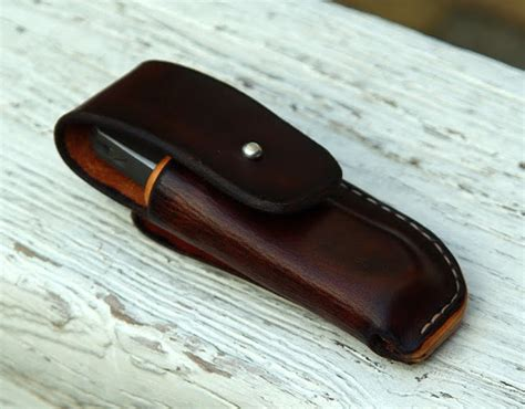 leather knife pouch sheaths for knives new folder pouch concept