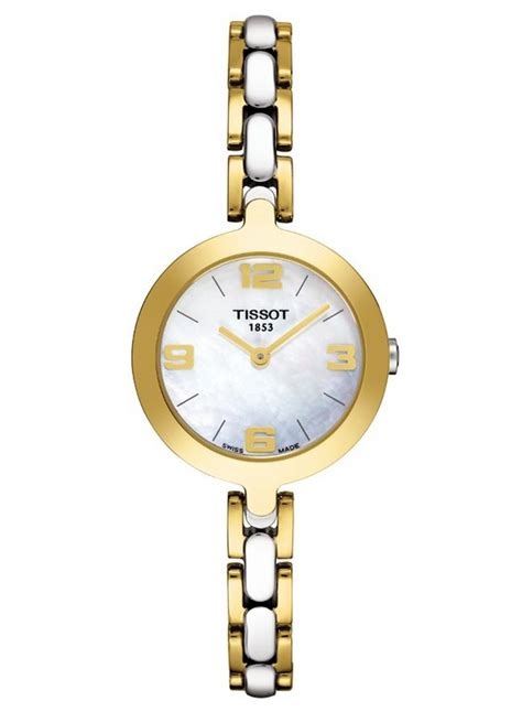 Tissot Flamingo Of Pearl Gold Stainless Steel T09421033 tissot flamingo ladies review