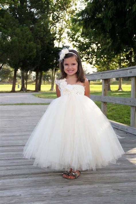 Wedding Dress Anak Tutu Blossom Merah ivory flower tutu dress flower dress tutu dresses headband ivory wedding