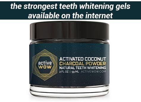 strongest teeth whitening gels