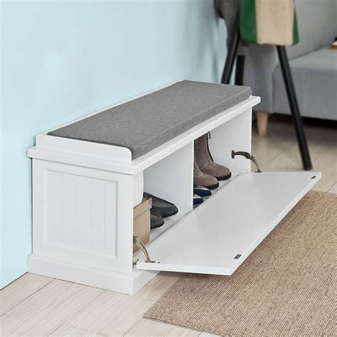 hallway shoe bench with padded seat sobuy 174 padded hallway shoe storage bench entryway seat